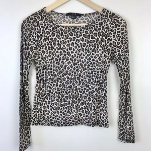 Forever 21 | Leopard Print Long Sleeve Top